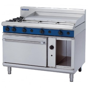 GR801-N Blue Seal By Moffat 1200mm Static Oven Range 2X Burners and 900mm Griddle - Natural Gas