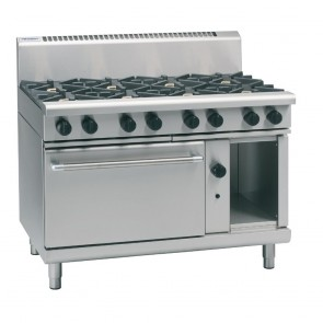 GR893-N Waldorf By Moffat 1200mm Gas Static Oven Range 4X Burners & 600mm Griddle - Natural Gas