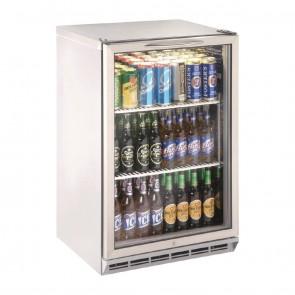 GT606 One Door Stainless Steel Bottle Cooler 800mm High