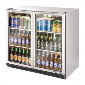 GT607 Two Door Stainless Steel Bottle Cooler 800mm High