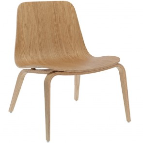 Hips Moulded Wood Wide Dining Chair B-1802