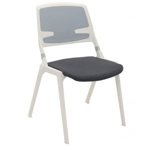 Ida Stacking Chair with Upholstered Seat Pad