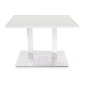 Ingela Rectangular Dining Table Stainless Steel Legs