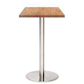 Jaquelina Wood Dry Bar Table Stainless Steel Base