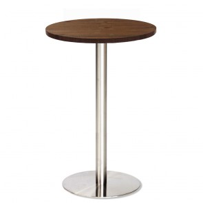 Jaquelina Dry Bar Table Solid Timber Top Stainless Steel Base