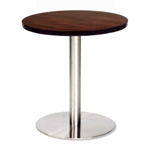 Jaquelina Round Cafe Table Stainless Steel Base