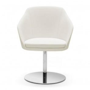 Karenlene Swivel Chair Stylish Midback Round Stainles Steel Base