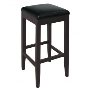 Kas Faux Leather Wooden Bar Stool