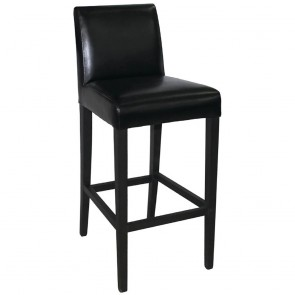Kas Faux Leather Wooden Bar Stool with Back