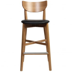 Kaya Bar Stool Faux Leather
