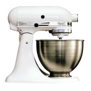 KitchenAid White KSM150 Mixer