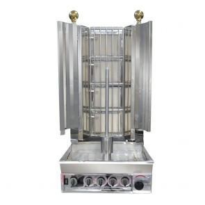 KMB4E FED Semi-automatic Kebab With Natural Gas 4 Burner KMB4E