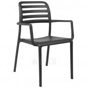 Kristina Outdoor Resin Arm Chair Stacking 8 High