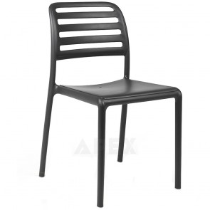 Kristina Outdoor Resin Side Chair Stacking 8 High