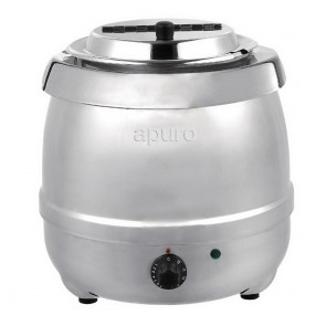 L714-A Apuro Stainless Steel Soup Kettle - 10 Litre