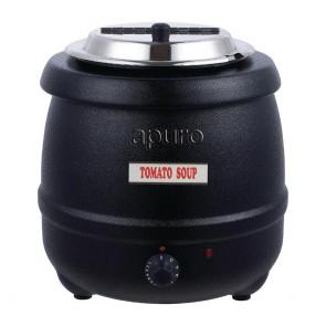 L715-A Apuro Black Soup Kettle - 10 Litre - AUS PLUG
