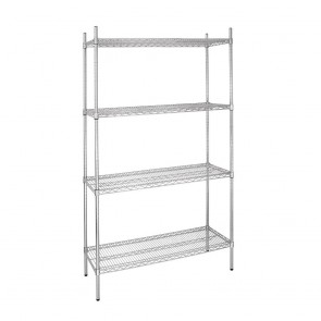 L927 Vogue Flat Pack 4 Shelf Unit - 91Wx46Dx183cmH