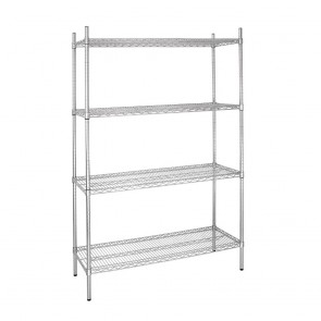L928 Vogue Flat Pack 4 Shelf Unit - 1220Wx460Dx1830mmH