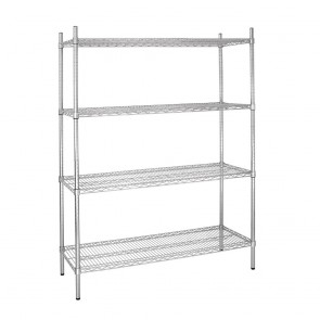 L929 Vogue Flat Pack 4 Shelf Unit - 152Wx46Dx183cmH