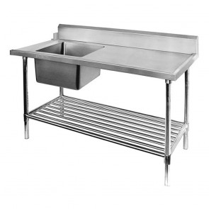 Left Inlet Single Sink Dishwasher Bench SSBD7-1200L/A