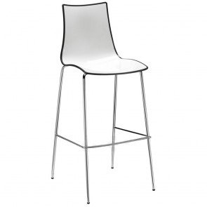 Letta Bar Stool Chrome Legs 80cm Bicolore