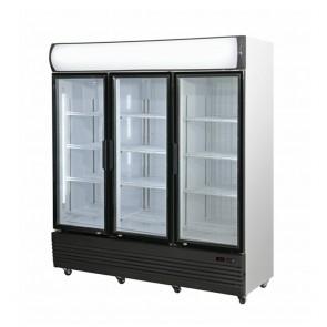 LG-1500GEF FED Triple Door Upright Glass Door Combined Fridge & Freezer LG-1500GEF