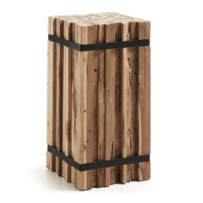 Lindy Rustic Teak Side Table