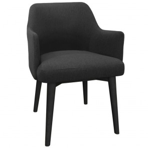 Virgie Upholstered Chair with Arms - Dark Grey