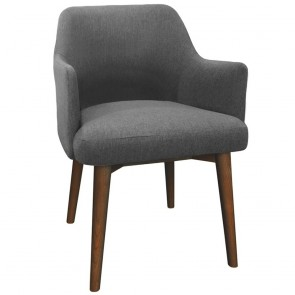 Linnea Armchair Walnut Wood Legs