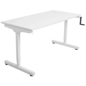 Manual Height Adjustable Standing Desk White