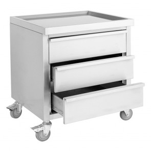 MDS-6-700 Mobile Work Stand with 3 Drawers