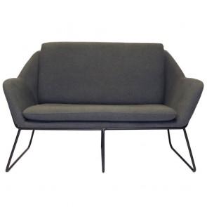 Melina 2 Seater Upholstered Reception Lounge with Sled Base