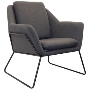 Melina Upholstered Reception Chair with Sled Base