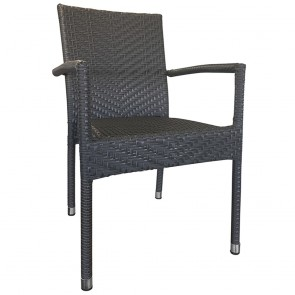 Mia Rattan Wicker Outdoor Arm Chair