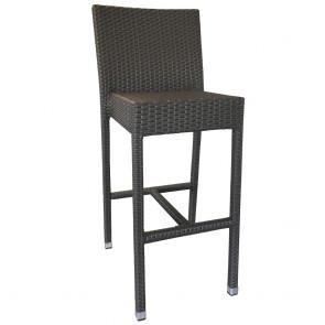 Mia Rattan Wicker Outdoor Bar Stool with Backrest