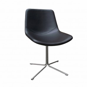 Mildrid Designer Black Upholstered Swivel Chair