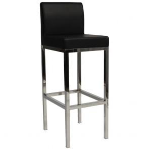 Minimalist Commercial Bar Stool SS Backrest