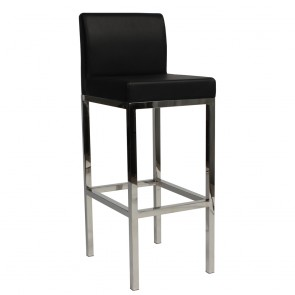 Minimalist Counter Stool Stainless SS Backrest