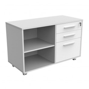 Mobile Caddy with Drawers, Filing Drawer and Shelves