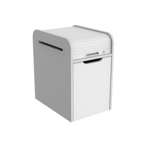 Mobile Pedestal Filing Drawer and Rolltop Stationery