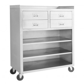 MS116 Mobile cabinet with 4 Drawers and 3 Shelves