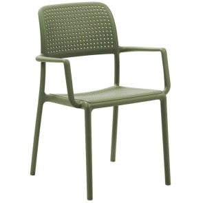 Gia Outdoor Resin Arm Chair Stackable 8 High