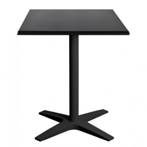 Franziska Square Outdoor Table with Charcoal Cast Iron Base