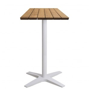 Franziska Rustic Wood Outdoor Bar Table