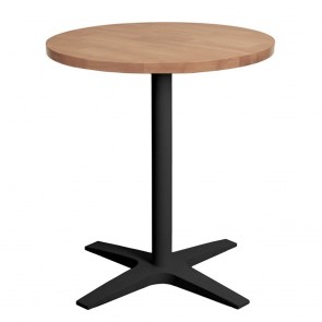 Franziska Round Dining Table with Charcoal Cast Iron Base