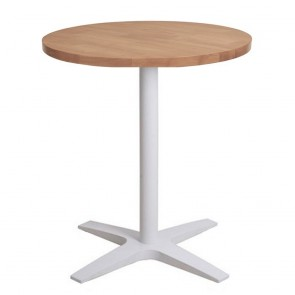 Franziska Round Dining Table with White Cast Iron Base
