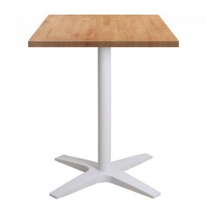 Franziska Square Dining Table with White Cast Iron Base