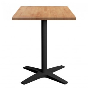 Franziska Square Dining Table with Charcoal Cast Iron Base