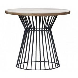 Oak Cafe Table with Studio Base