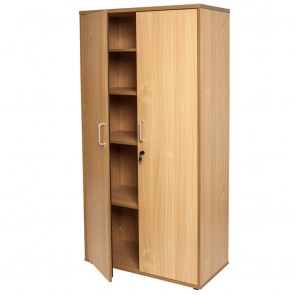 Beech 2 Door Lockable Cupboard